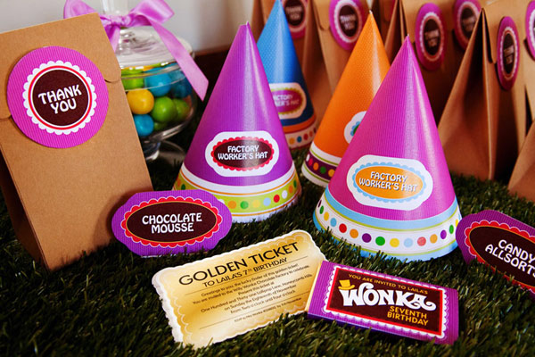 Charlie and the chocolate factory birthday printables