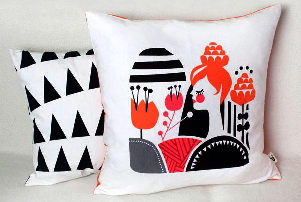 Darling Clementine woodland cushion