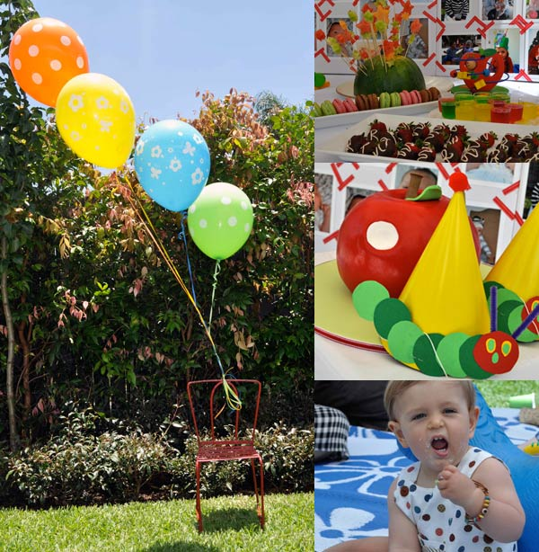 hungry catrpillar party7 Show us your party   Rowans Very Hungry Caterpillar birthday