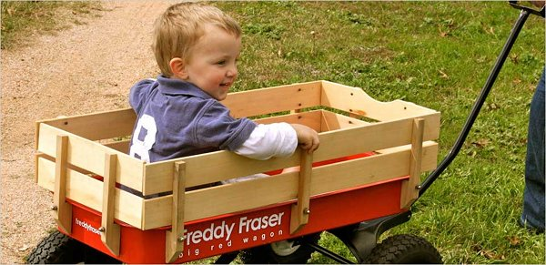 Freddy Fraser wagons cart the important stuff with ease
