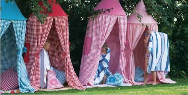 Playhouse hanging tents from Petit