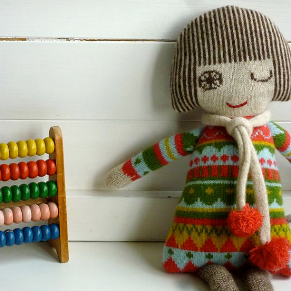 sally2 Crafty comfort with Sally Nencini knitted toys