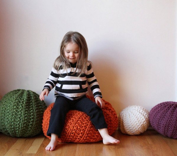 Knit pouf 1 Nursery accessories from Etsy   our top picks!