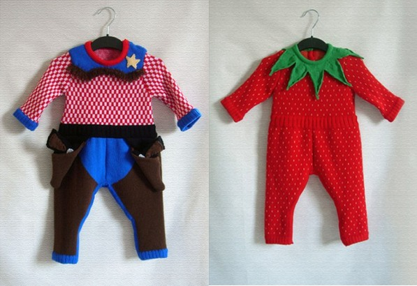 The Miniature Knit Shop, baby sheriff costume
