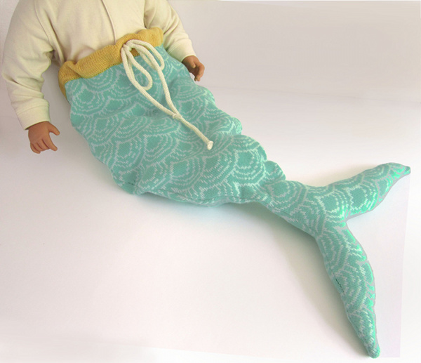Mermaid sleeping bag from The Miniature Knit Shop