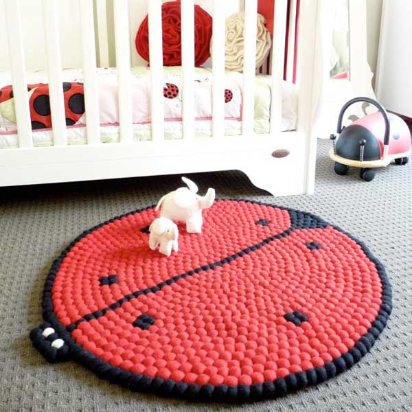 Be Happy As Larry With These Wool Felt Nursery Rugs