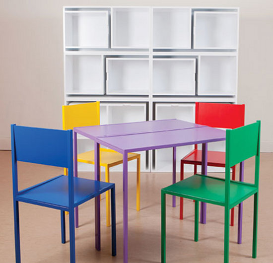 table chairs set kids space-saving furniture