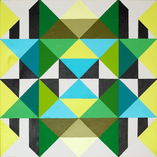 Geometric painting by Robyn Lynnly