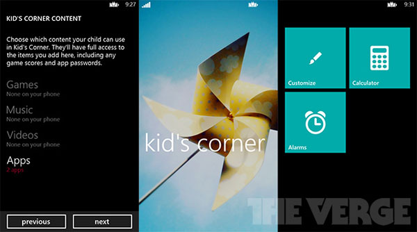 Kids corner 2 How to childproof your Windows smartphone