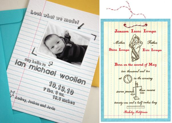 Make your birth announcement creative – New Baby Born Announcement