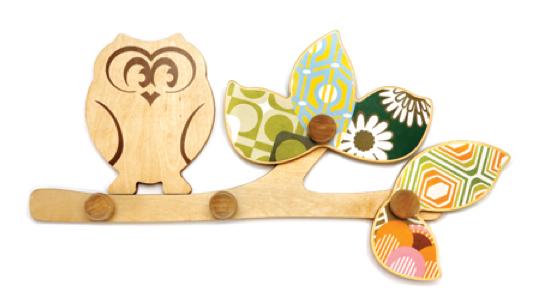 wooden nursery wall hooks