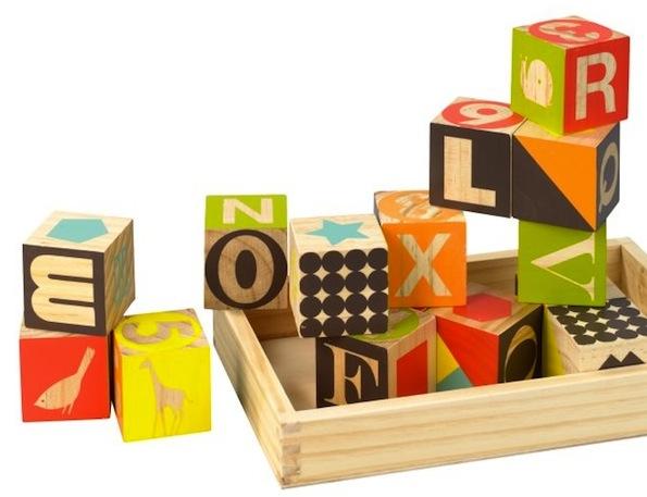 beautiful wooden blocks