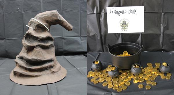 hogwarts birthday, sorting hat pinata