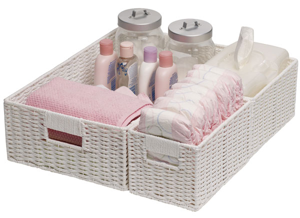 nappy change table storage baskets