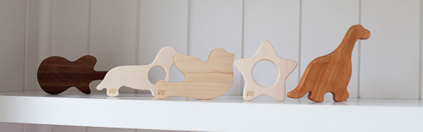 wooden teething toys