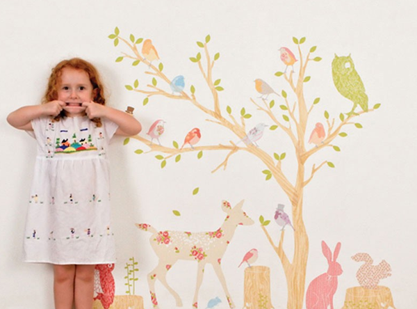 fabric forest wall snickers