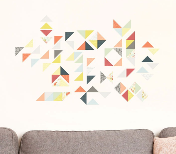Love Mae Geometric wall stickers Love Mae   vintage style wall decals and more