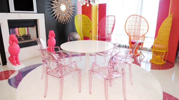 pink ghost chairs