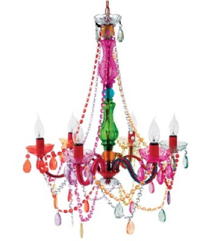 Colourful chandelier