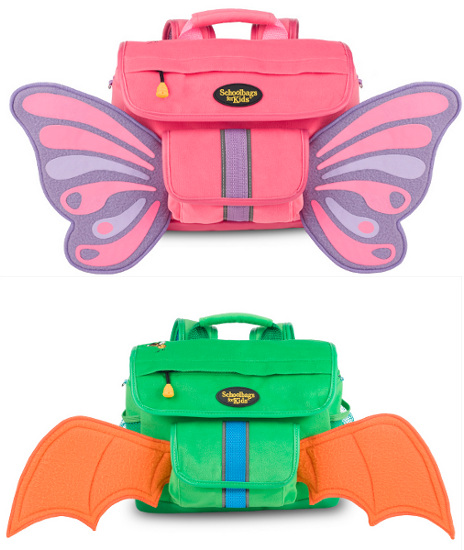 Fuzzy Flyers toddler backpacks from Schoolbags for Kids