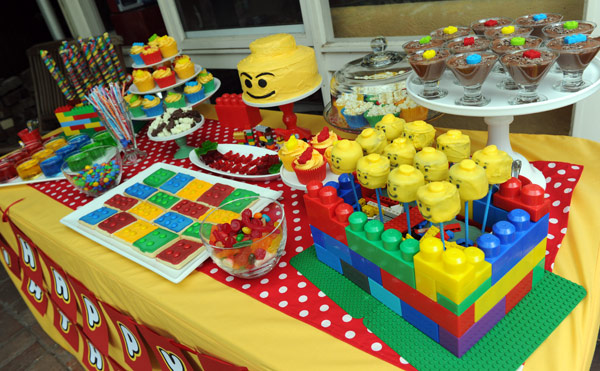 Lego birthday party food