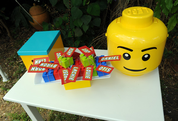 Lego birthday party favour ideas