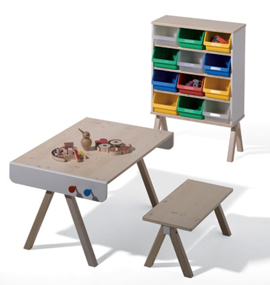 richard Lampert kids collection Once was a change table... Famille Garage furniture by Richard Lampert