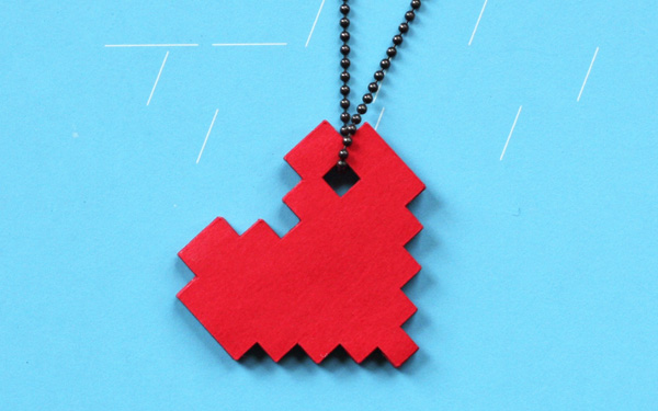 DIY paper necklace web Made with love   our guide to a DIY Valentines Day!