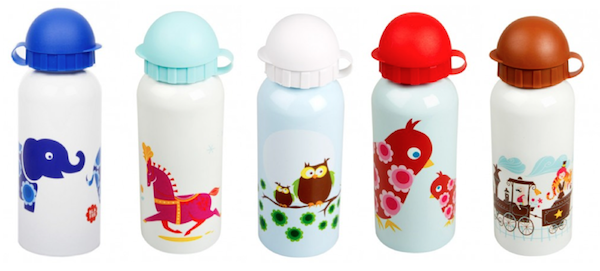 retro illustration drink bottles