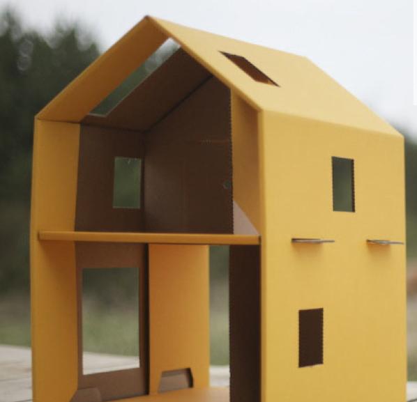 eco toys, cardboard play house