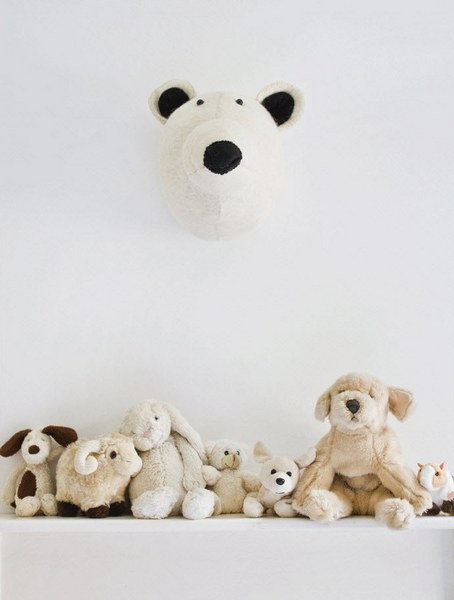 stuffed animal trophy heads