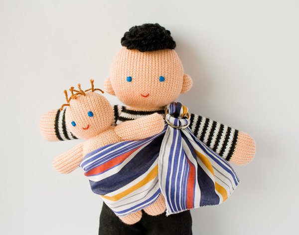 freja toys 1 The babywearing daddy doll by Freja Toys   because dads wear babies too