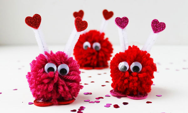 pom monsters web Made with love   our guide to a DIY Valentines Day!