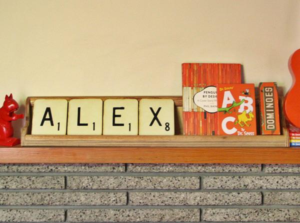 retro vintage giant personalised Scrabble tiles