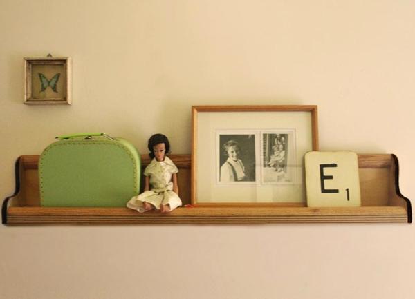 retro vintage wooden shelf