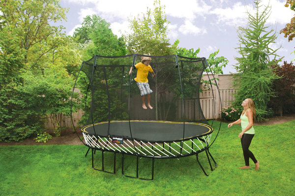 springfree1 Kids can (safely) jump for joy on a Springfree Trampoline