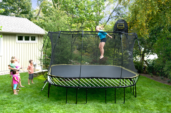 springfree2 Kids can (safely) jump for joy on a Springfree Trampoline