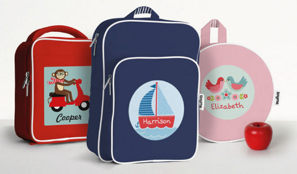 Personalised bags and backpacks from Tinyme