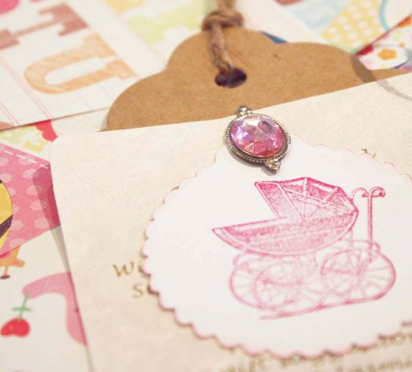 pretty pink girl baby shower invitations
