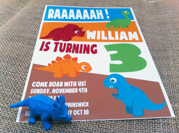 cool dinosaur birthday party invitation