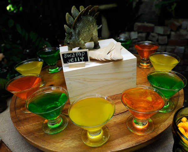 dinosaur party food ideas, dinosaur jelly, dinosaur jello