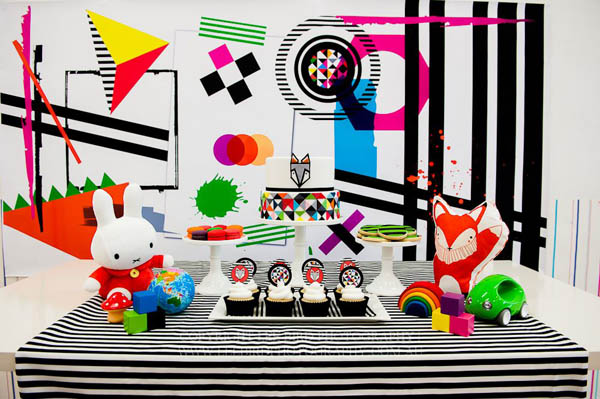 Scandinavian fox birthday party