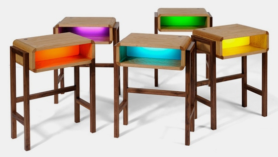 Quirky Bedside Tables what's your hue? the night light table