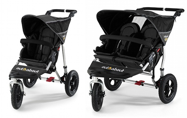 out n about pram double pushchair