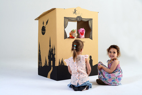 tinyfolk puppetbox Tinyfolk cardboard playhouses set kids up for fun