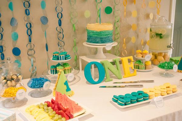 colour blocking birthday party