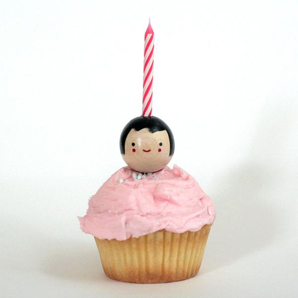 cupcake candle kid holder