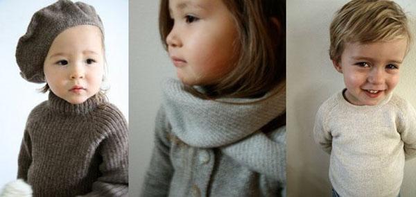 Children's knitwear neutrals from Esencia