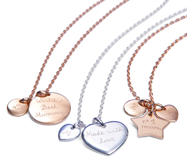 Merci Maman personalised charm necklaces