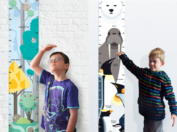 cool height charts for kids, stylish Australian souvenirs